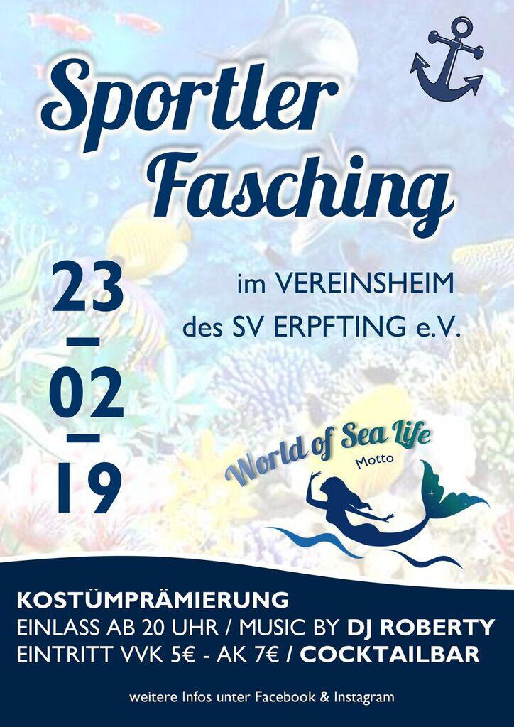 Sportlerfasching am 23. Februar!